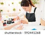 asian chinese women hands...   Shutterstock . vector #592441268