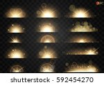 set. shining star  the sun... | Shutterstock .eps vector #592454270