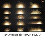 set. shining star  the sun... | Shutterstock .eps vector #592454270