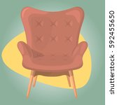 armchair vector illustration | Shutterstock .eps vector #592455650