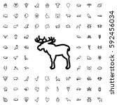 moose icon illustration... | Shutterstock .eps vector #592456034
