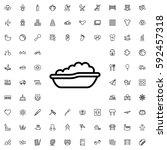 baby bath icon illustration... | Shutterstock .eps vector #592457318