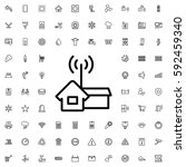 home signal icon illustration... | Shutterstock .eps vector #592459340