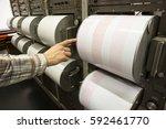 seismograph records an... | Shutterstock . vector #592461770