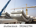 concrete elements for a subway... | Shutterstock . vector #592461794