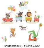 Funny Animals Ride. Animals O...