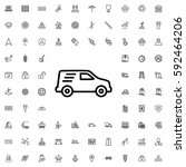 delivery car icon illustration... | Shutterstock .eps vector #592464206