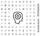 gear in head icon illustration... | Shutterstock .eps vector #592466624