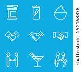shake icons set. set of 9 shake ... | Shutterstock .eps vector #592468898