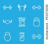 bodybuilding icons set. set of... | Shutterstock .eps vector #592472030