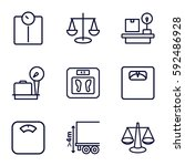 scales icons set. set of 9... | Shutterstock .eps vector #592486928