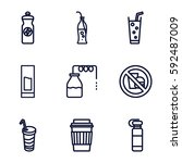 soda icons set. set of 9 soda... | Shutterstock .eps vector #592487009