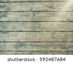vintage filtered with wooden... | Shutterstock . vector #592487684