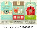 set of price tag label for farm ... | Shutterstock .eps vector #592488290