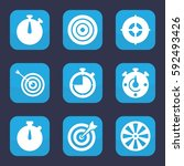 accurate icon. set of 9 filled... | Shutterstock .eps vector #592493426