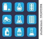 pharmaceutical icon. set of 9... | Shutterstock .eps vector #592495598