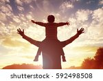 family time father and son... | Shutterstock . vector #592498508