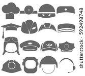 headdress  profession  logo ... | Shutterstock .eps vector #592498748