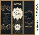 set of design elements labels ...   Shutterstock . vector #592503086