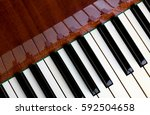 piano keyboard and reflection   Shutterstock . vector #592504658