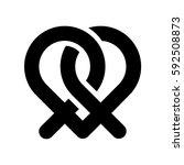 pretzel heart | Shutterstock .eps vector #592508873