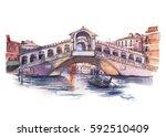Rialto Bridge In Venice  ...