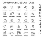 juristic icons set. thin lines. ... | Shutterstock .eps vector #592518443