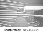 abstract white interior... | Shutterstock . vector #592518614
