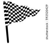 waving triangular checkered flag   Shutterstock .eps vector #592520429