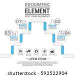 stiker template option number...   Shutterstock .eps vector #592522904