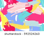 seamless pattern with marker... | Shutterstock .eps vector #592524263