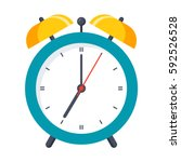 wake up icon with alarm clock... | Shutterstock .eps vector #592526528