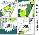 memphis background style design ... | Shutterstock .eps vector #592527599