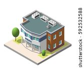 isometric police department... | Shutterstock . vector #592532588