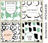 set of seamless hand drawn...   Shutterstock .eps vector #592536338