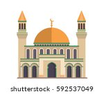 modern flat elegant islamic... | Shutterstock .eps vector #592537049