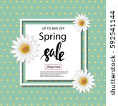 spring sale banner template. | Shutterstock .eps vector #592541144