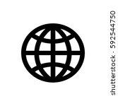 flat silhouette internet icon | Shutterstock .eps vector #592544750