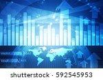 3d rendering stock market... | Shutterstock . vector #592545953