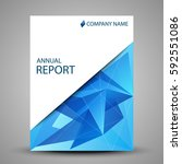 annual report cover in abstract ... | Shutterstock .eps vector #592551086