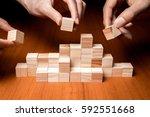 business teamwork concept ... | Shutterstock . vector #592551668