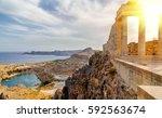 Greece. Rhodes. Acropolis Of...