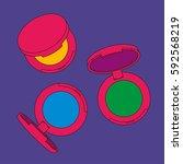 eye shadow singles. pop art... | Shutterstock .eps vector #592568219
