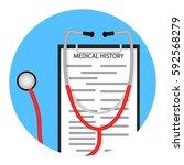 medical diagnostics icon.... | Shutterstock .eps vector #592568279