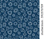 cute fashion seamless pattern... | Shutterstock .eps vector #592570709