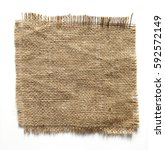burlap fabric torn edges sack... | Shutterstock . vector #592572149