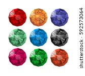collection of realistic round...   Shutterstock .eps vector #592573064