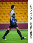 Small photo of Kawin Thamsatchanan of Muangthong United in action during the AFC Champions League between Brisbane Roar and Muangthong United at Suncorp Stadium on February 21, 2017 in Australia.