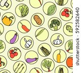 vector seamless pattern with... | Shutterstock .eps vector #592582640
