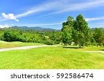 a golf course in thailand | Shutterstock . vector #592586474